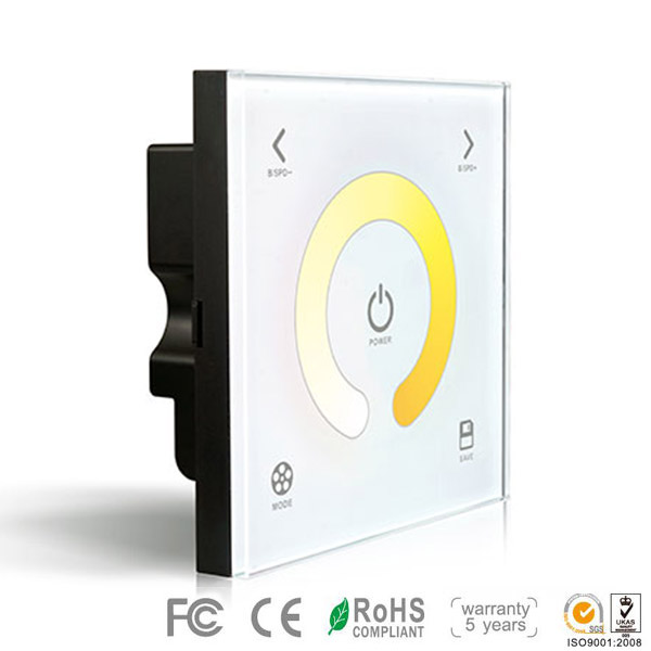 DX2,DX Series,Wireless single zone, Dimming Touch Panel High-end Controller For CCT LED Strips Lighting, Warranty 5 years